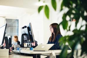 To ansatte ved hvert sitt skrivebord - bli del av performance marketing teamet vårt