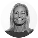 Strategidirektør i Starcom, Catharine Mitlid. Portrettfoto sort-hvitt.